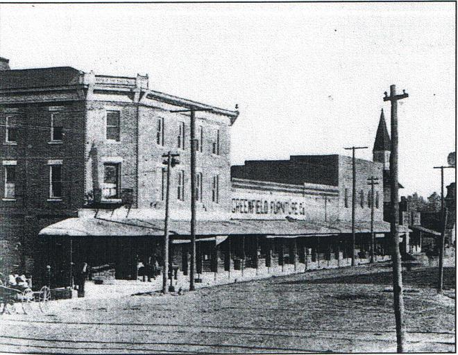 Greenfield 1910 front and main streets 001