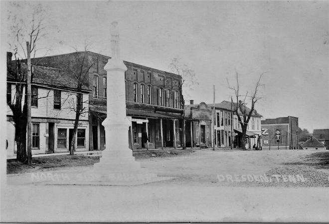 Weakley County Dresden North side square circa 1910