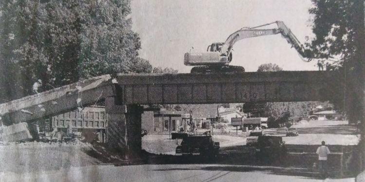 Dresdens Railroad Overpass Demolition 10 3 2010