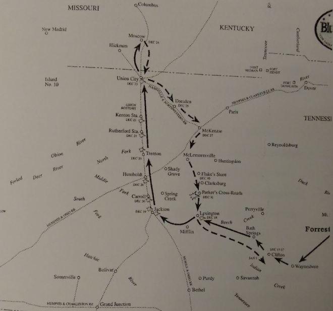 WNathan Bedford Forrest west tn raids